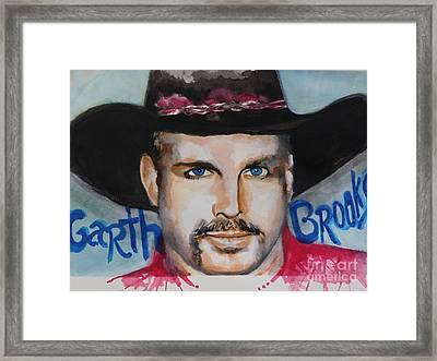Garth Brooks Framed Print by Chrisann Ellis