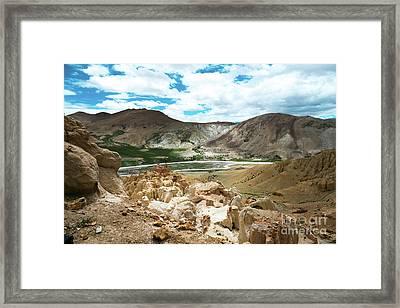 Garuda Valley Tibet Yantra.lv Framed Print by Raimond Klavins