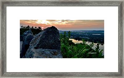 Garvin Heights Sunset Framed Print