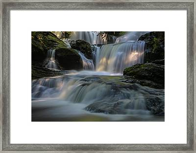 Framed Print featuring the photograph Garwin Falls  by Juergen Roth