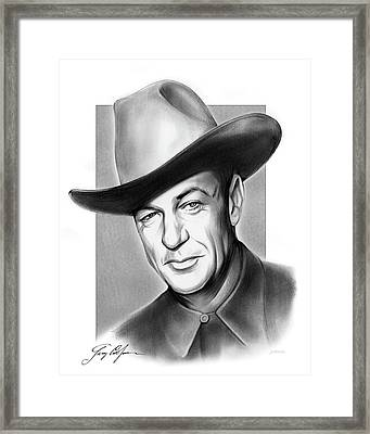 Gary Cooper Signature Framed Print