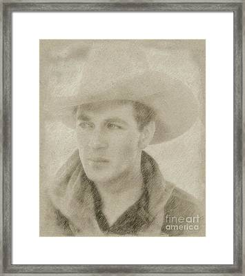 Gary Cooper Vintage Hollywood Star Framed Print by Frank Falcon
