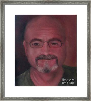 Framed Print featuring the painting Gary by Randol Burns