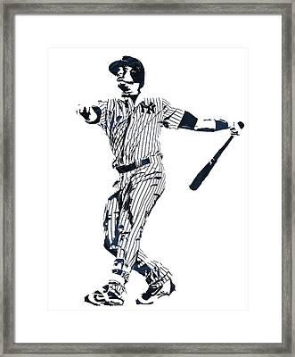 Gary Sanchez New York Yankees Pixel Art 1 Framed Print