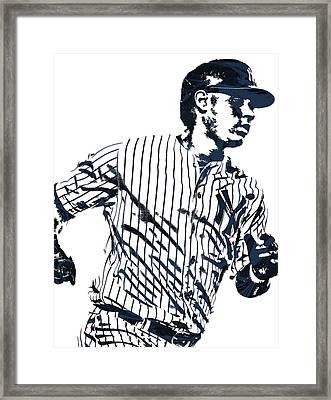 Gary Sanchez New York Yankees Pixel Art 2 Framed Print