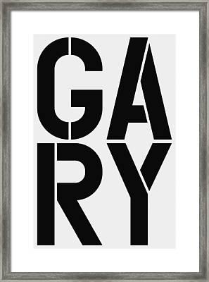 Gary Framed Print by Three Dots