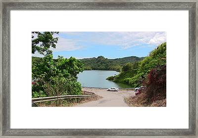 Garzas Lake Road Framed Print
