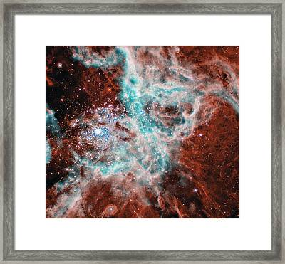 Gas And Dust Where Thousands Of Stars Are Being Born In The Doradus Nebula Framed Print by American School
