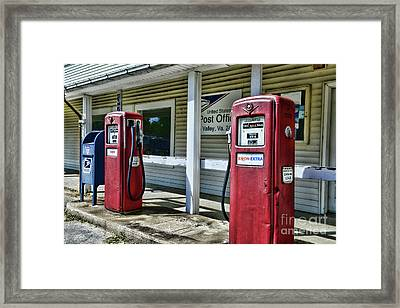 Framed Print featuring the photograph Gas And Mail 1 by Paul Ward