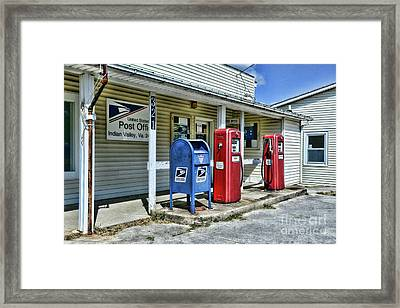 Framed Print featuring the photograph Gas And Mail by Paul Ward