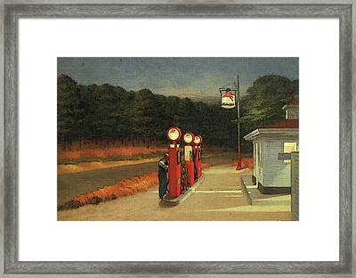 Gas  Framed Print by Edward Hopper