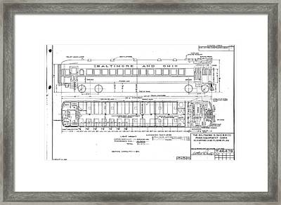 Gas Electric Car Diagram Framed Print