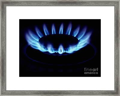 Gas Flame Framed Print by John Kaprielian