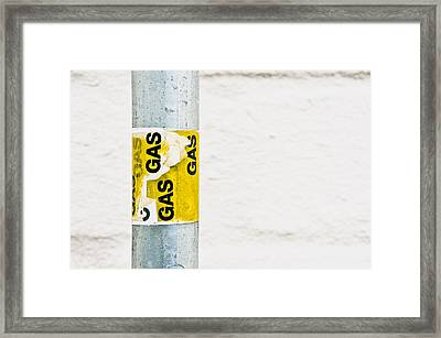 Gas Label Framed Print