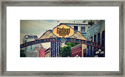 Gas Lamp Quarter Retro Framed Print by See My  Photos