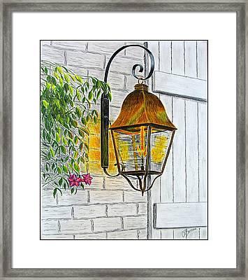 Gas Lantern Framed Print by Chad Brittain