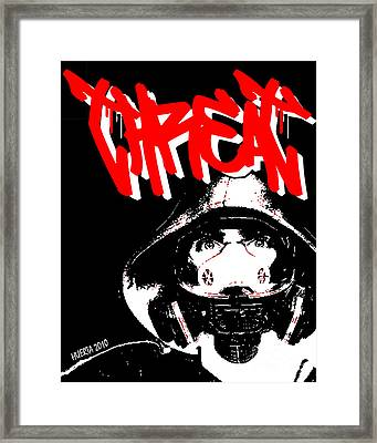 Gas Mask Framed Print by Jesus Javier Huerta