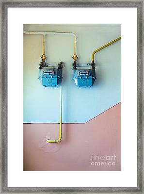 Gas Meters Framed Print by Gabriela Insuratelu