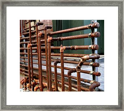 Gas Pipes And Fittings Framed Print