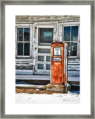 Gas Pump 7153 Framed Print