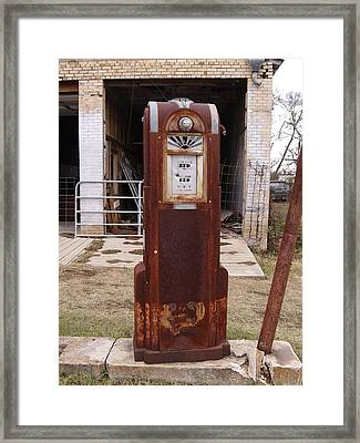 Gas Pump Framed Print by James Granberry