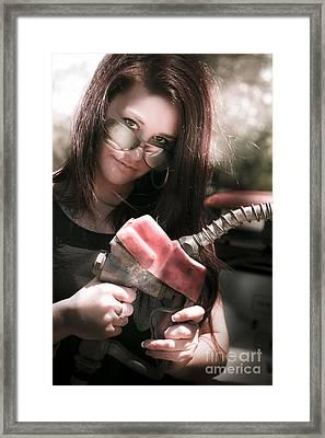 Gas Pump Framed Print by Jorgo Photography - Wall Art Gallery