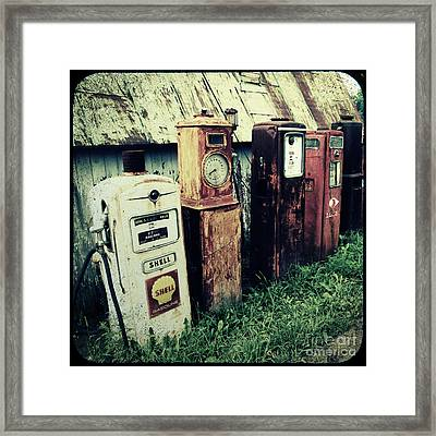 Gas Pumps Framed Print