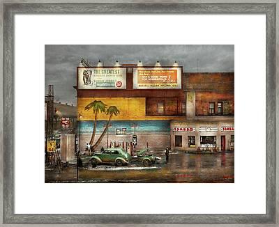 Gas Station - Dreaming Of Summer 1937 Framed Print
