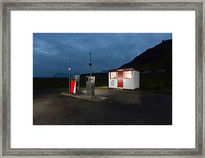 Gas Station In The Countryside, South Framed Print