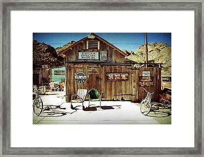 Gas Station Framed Print
