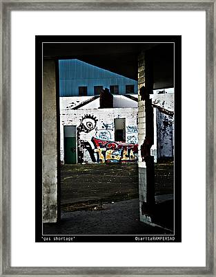 Gas Strike Framed Print by Sarita Rampersad