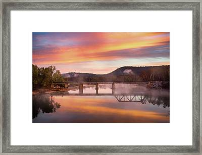 Gasconade River Sunrise Framed Print by Jae Mishra