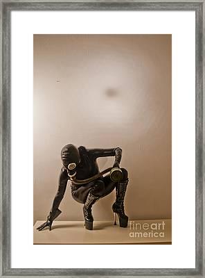 Gasmask Framed Print by Dominique De Leeuw