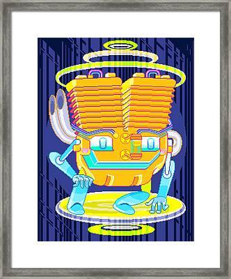 Gasoline Dynamo Framed Print
