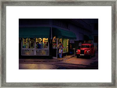 Framed Print featuring the photograph Gasolinera Linea Y Calle E Havana Cuba by Charles Harden