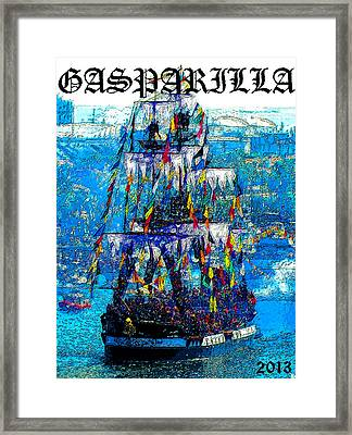 Gasparilla 2013 Poster Work A Framed Print by David Lee Thompson