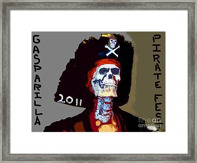 Gasparilla Pirate Fest Poster Framed Print by David Lee Thompson