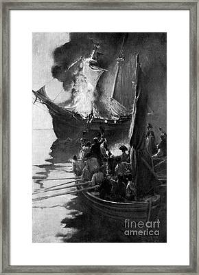 Gaspee Affair, 1772 Framed Print by Science Source