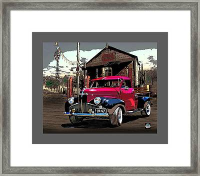 Gassed Up And Ready Framed Print