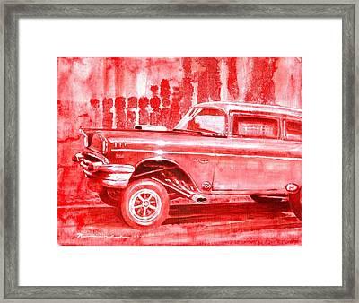 Gasser Madness Framed Print by Bernie Ramirez