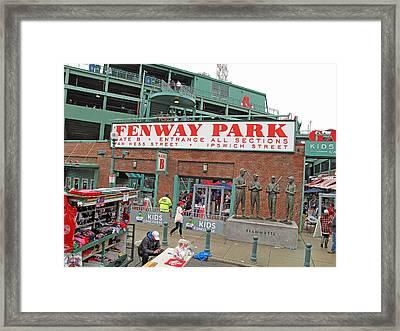 Gate B Fenway Framed Print by Barbara McDevitt