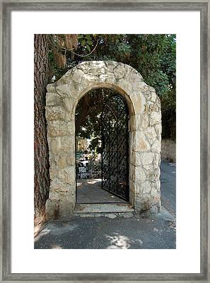 Gate In Rehavia I Framed Print by Susan Heller