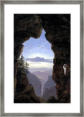 Gate In The Rocks  Framed Print by Karl Friedrich Schinkel