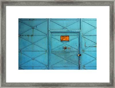 Gate Framed Print by Jez C Self