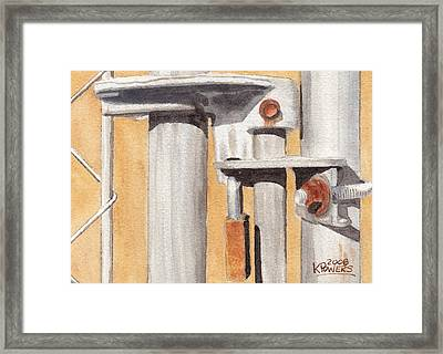 Gate Lock Framed Print by Ken Powers