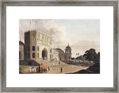 Gate Of A Mosque Built By Hafiz Ramut Framed Print by Thomas and William Daniell