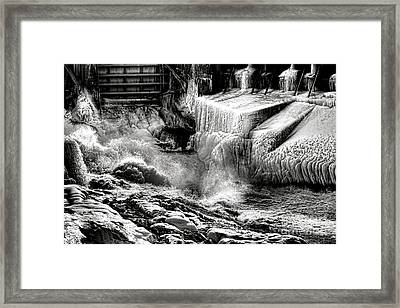 Gate Of Frozen Hell Framed Print by Olivier Le Queinec