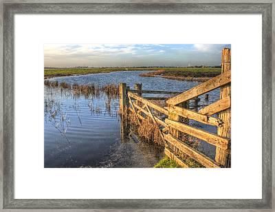 Gate On The Marsh Framed Print