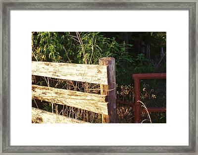 Gate Post Framed Print