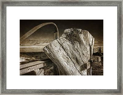 Gate Post Framed Print by Wayne Sherriff